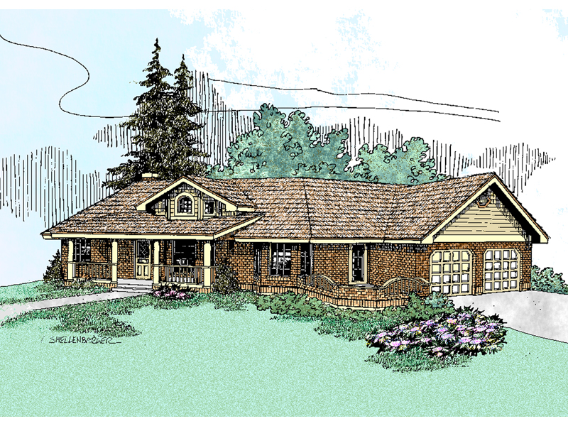 Ranch House Plan Front of Home - 085D-0472 | House Plans and More