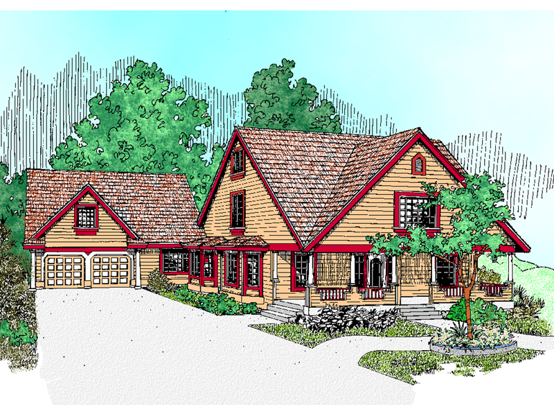 Lake House Plan Front of Home - 085D-0473 | House Plans and More