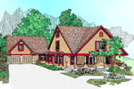 Traditional House Plan Front of Home - 085D-0473 | House Plans and More