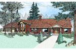 Ranch House Plan Front of Home - 085D-0474 | House Plans and More