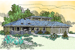 Ranch House Plan Front of Home - 085D-0475 | House Plans and More