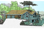 Mountain Home Plan Front of Home - 085D-0476 | House Plans and More