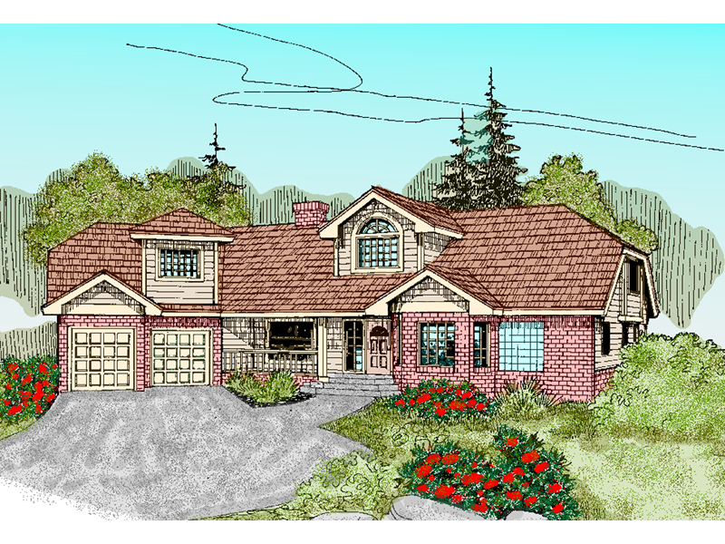 English Tudor House Plan Front of Home - 085D-0479 | House Plans and More