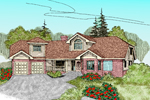 Ranch House Plan Front of Home - 085D-0479 | House Plans and More