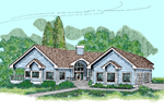 Contemporary House Plan Front of Home - 085D-0480 | House Plans and More