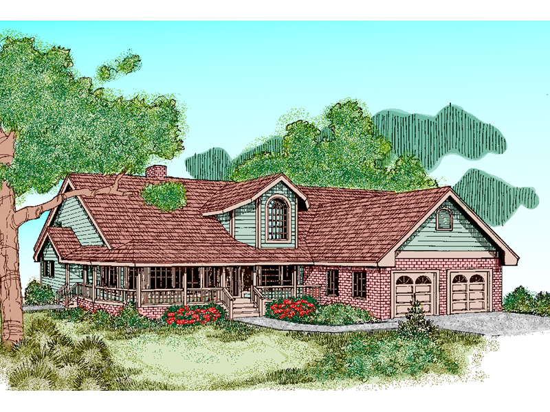 Bungalow House Plan Front of Home - 085D-0482 | House Plans and More
