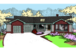 Contemporary House Plan Front of Home - 085D-0483 | House Plans and More