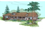 Tudor House Plan Front of Home - 085D-0484 | House Plans and More