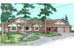 Ranch House Plan Front of Home - 085D-0485 | House Plans and More