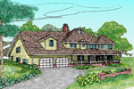Country House Plan Front of Home - 085D-0486 | House Plans and More