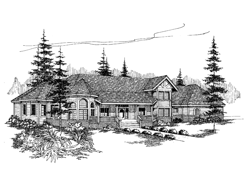 Country House Plan Front of Home - 085D-0487 | House Plans and More