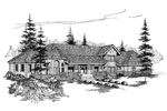 Farmhouse Plan Front of Home - 085D-0487 | House Plans and More
