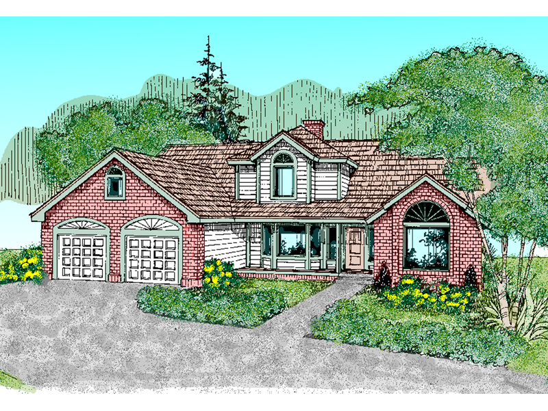 Bungalow House Plan Front of Home - 085D-0488 | House Plans and More