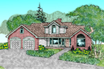 Contemporary House Plan Front of Home - 085D-0488 | House Plans and More