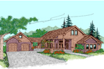 Contemporary House Plan Front of Home - 085D-0489 | House Plans and More