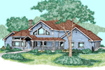 Contemporary House Plan Front of Home - 085D-0490 | House Plans and More