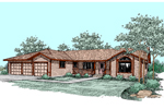 Ranch House Plan Front of Home - 085D-0491 | House Plans and More