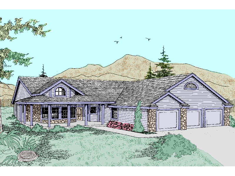 Craftsman House Plan Front of Home - 085D-0492 | House Plans and More
