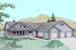 Country House Plan Front of Home - 085D-0492 | House Plans and More