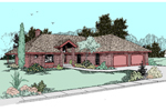 Contemporary House Plan Front of Home - 085D-0493 | House Plans and More