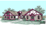 Tudor House Plan Front of Home - 085D-0495 | House Plans and More