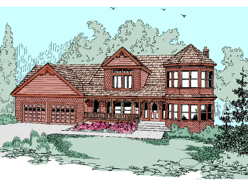 Victorian House Plan Front of Home - 085D-0496 | House Plans and More