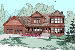 Bungalow House Plan Front of Home - 085D-0496 | House Plans and More