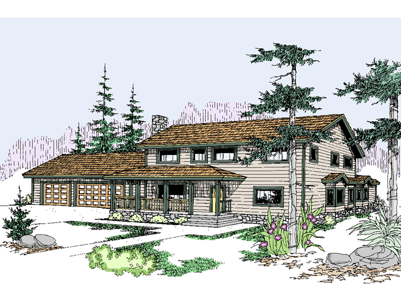 Country House Plan Front of Home - 085D-0498 | House Plans and More
