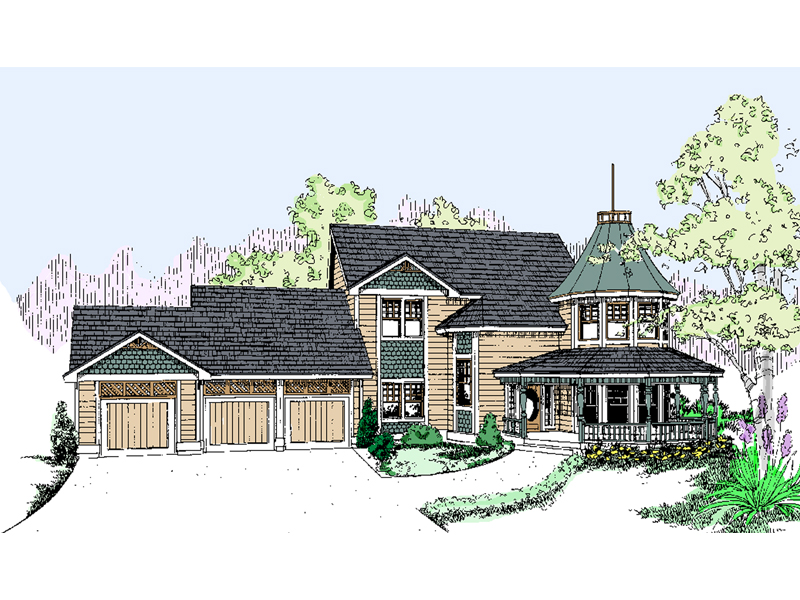 Farmhouse Plan Front of Home - 085D-0499 | House Plans and More