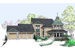 Country House Plan Front of Home - 085D-0499 | House Plans and More