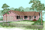 Ranch House Plan Front of Home - 085D-0500 | House Plans and More