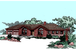 Ranch House Plan Front of Home - 085D-0501 | House Plans and More