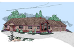 Traditional House Plan Front of Home - 085D-0502 | House Plans and More