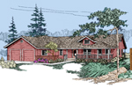 Bungalow House Plan Front of Home - 085D-0503 | House Plans and More