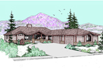 Craftsman House Plan Front of Home - 085D-0504 | House Plans and More