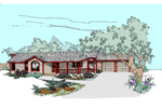 Ranch House Plan Front of Home - 085D-0506 | House Plans and More
