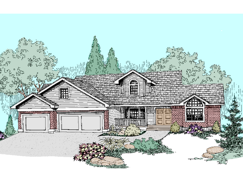 Bungalow House Plan Front of Home - 085D-0508 | House Plans and More