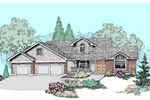 Contemporary House Plan Front of Home - 085D-0508 | House Plans and More