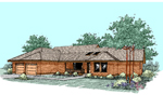 Ranch House Plan Front of Home - 085D-0509 | House Plans and More