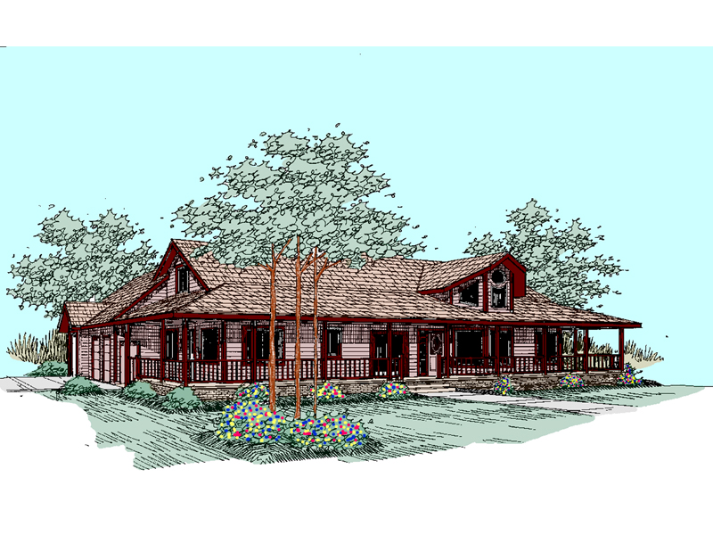 Country House Plan Front of Home - 085D-0511 | House Plans and More