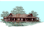 Ranch House Plan Front of Home - 085D-0511 | House Plans and More