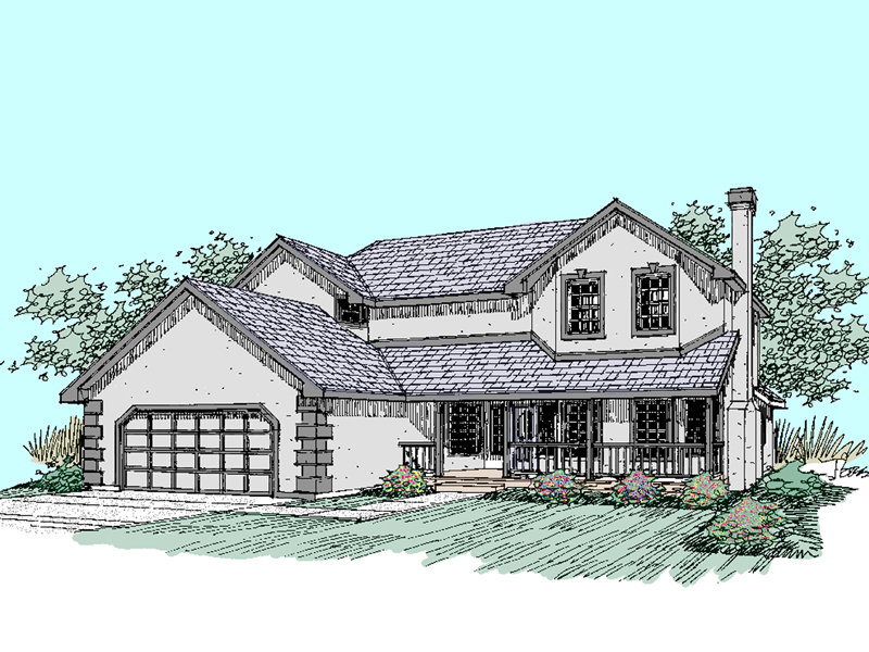 Farmhouse Plan Front of Home - 085D-0512 | House Plans and More