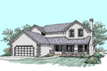 Country House Plan Front of Home - 085D-0512 | House Plans and More