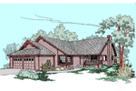 Contemporary House Plan Front of Home - 085D-0514 | House Plans and More