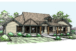 Farmhouse Plan Front of Home - 085D-0515 | House Plans and More