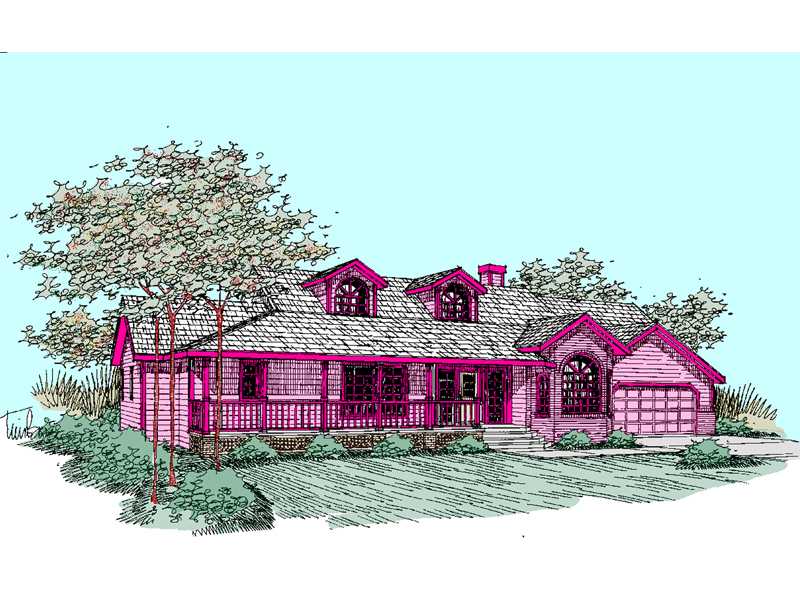 Country House Plan Front of Home - 085D-0516 | House Plans and More