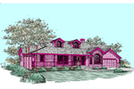 Ranch House Plan Front of Home - 085D-0516 | House Plans and More