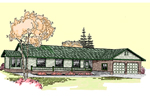 Ranch House Plan Front of Home - 085D-0517 | House Plans and More