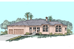Southwestern House Plan Front of Home - 085D-0520 | House Plans and More