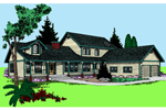 Country House Plan Front of Home - 085D-0521 | House Plans and More